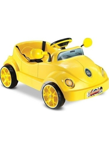 BabyHope Babyhope 406 Rally Pedallı Araba Sarı -Yeni Model Renkli